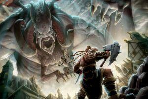 creature artwork fantasy art vikings warrior