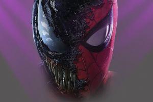 creature spider-man artwork superhero mask venom