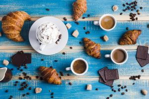 croissants chocolate still life sweets food coffee