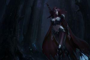 dark artwork fantasy art fantasy girl