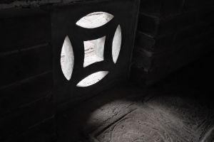 dark bricks lights stones wall