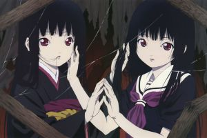 dark hair anime girls anime jigoku shoujo enma ai