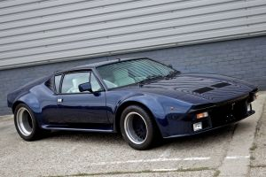 de tomaso pantera gts side view blue cars car vehicle