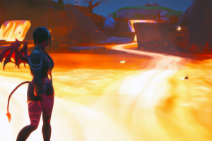 demon girl fortnite lava