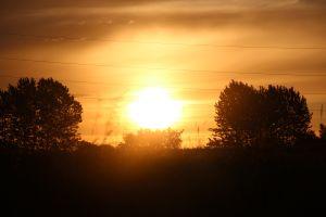 denmark outdoors sunrise orange sky