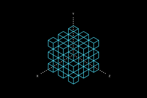 diamonds black background cube science mathematics minimalism simple digital art
