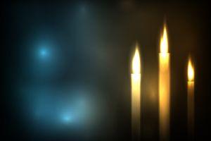 digital art candles abstract