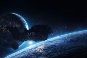 digital art planet science fiction space