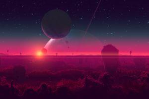digital art sky digital painting deviantart joeyjazz planet landscape space art