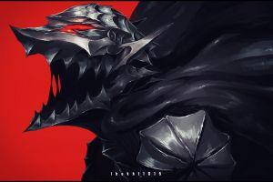 doodle fantasy armor anime black swordsman fantasy art fan art berserk guts