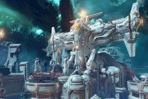 doom eternal makyrs video game art