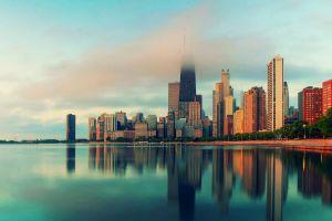 downtown city cityscape skyscraper chicago
