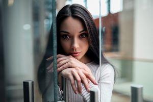 dress portrait tattoo glass women reflection