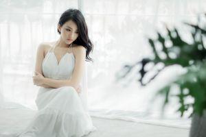 dress white dress photography model asian women