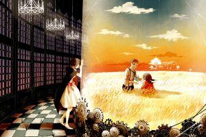 emotion steampunk anime gears field anime girls