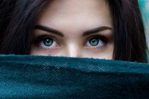 eyes women green eyes model photography