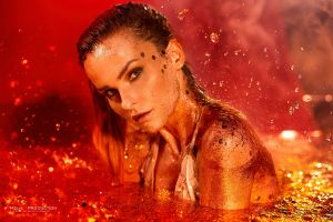 face women red model