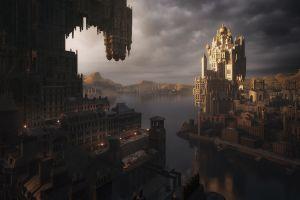 fantasy art fantasy city artwork cityscape digital art