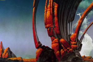 fantasy art rocks planet