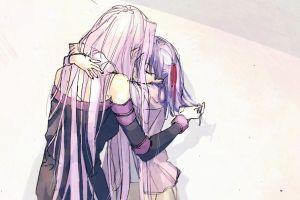 fate series long hair fate/stay night: heaven's feel fate/stay night fan art digital art rider (fate/stay night) purple hair anime girls matou sakura violet hair