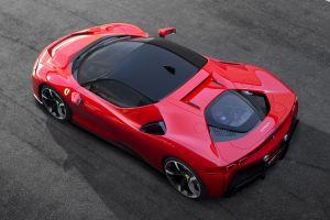 ferrari stradale racing red race cars sf90