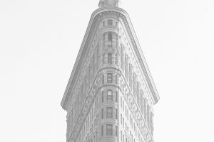 flatiron building  new york city building monochrome