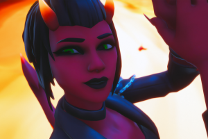 fortnite demon girl devil girl