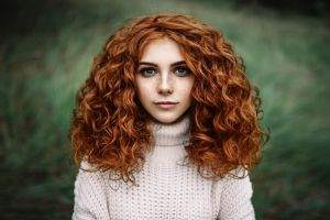 freckles long hair women white sweater piercing portrait redhead pierced nose nose rings face curly hair