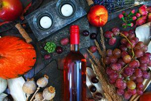 fruit bottles food still life grapes wine