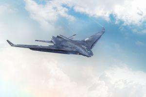 futuristic artwork aircraft military vehicle