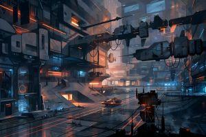 futuristic city futuristic digital art