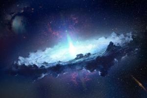 galaxy space digital art dark space art