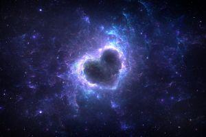 galaxy stars love space heart