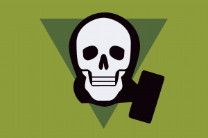 gas masks skull ahoy simple background