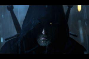 geralt of rivia the witcher 3: wild hunt beard video game art yellow eyes fantasy art the witcher hoods dark