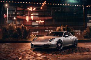 german cars night porsche 911 carrera s porsche 911 sports car porsche need for speed silver cars