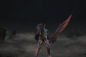 girl with weapon screen shot dark souls 3 sword
