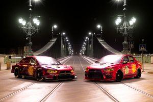 gran turismo sport motorsport mitsubishi evolution budapest night view