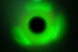 green black holes digital art