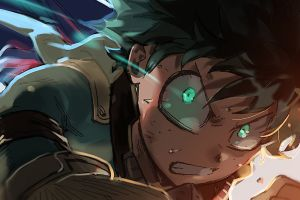 green eyes anime boys anime my hero acadamia midoriya izuku boku no hero academia