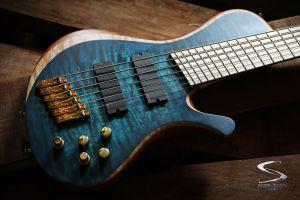 hand made 6 string poland bass guitars skervesen skervesen prometheus fanned frets multiscale