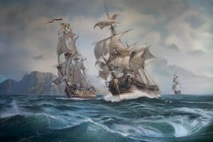 history sailing ship artwork sea