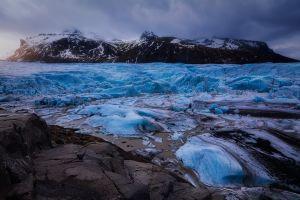 ice glacier nature iceland