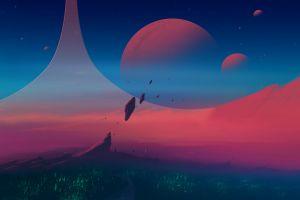 joeyjazz minimalism science fiction ringworld space art