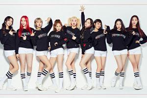 k-pop pigtails korean women knee high socks white clothing short shorts momoland brunette shorts black shirt asian white shoes nancy mcdonie