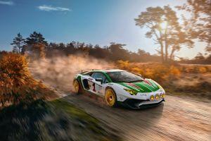 lamborghini car dirt racing white cars vehicle race cars