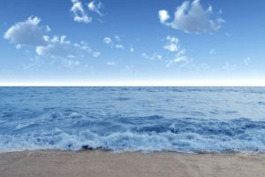 landscape clouds sea foam beach nature sea