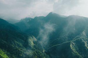 landscape mist mountains