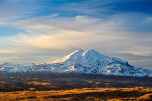 landscape mountains snow snowy mountain caucasus mountains