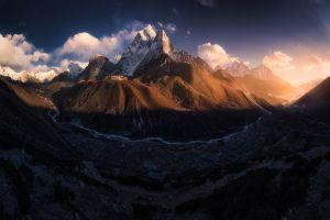landscape nature dark mountains tibet